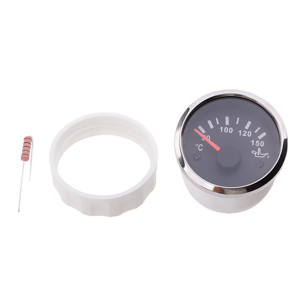 Sharplace 52mm Electrical Oil Temp Gauge Celsius Temperature with Red LED Digital for Car Motorcycle