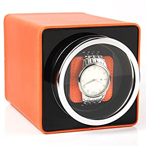 Single Watch Winder Black with 4 Rotation Mode Setting for Rolex, Fit Man Women Automatic Watch