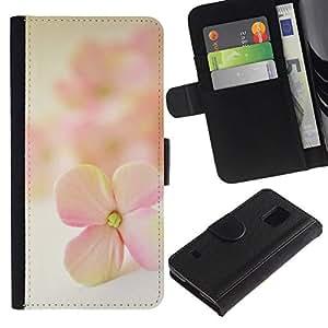 All Phone Most Case / Oferta Especial Cáscara Funda de cuero Monedero Cubierta de proteccion Caso / Wallet Case for Samsung Galaxy S5 V SM-G900 // Flower Petal Blooming Nature