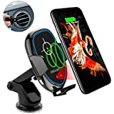 Wireless Car Charger, Maxjoy Qi Fast Charger Car Mount, 10W Wireless Car Charger Infrared Sensor Phone Holder Compatible for iPhone Xs Max/XR/X/8/8 Plus Samsung Galaxy S9 S9 Plus S8 Plus Note 8 5