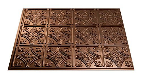 Fasade Easy Installation Traditional 1 Oil-Rubbed Bronze Backsplash Panel for Kitchen and Bathrooms (18 x 24 Panel) by Fasade