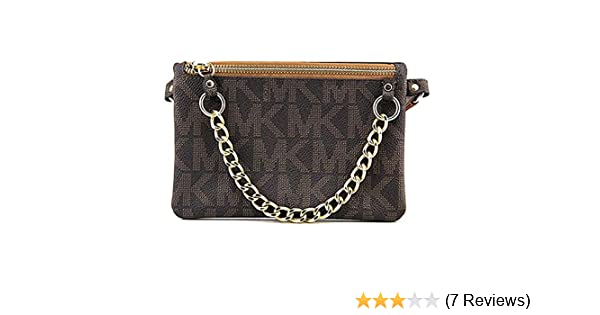 c707c3fa1f27b3 Amazon.com | Michael Kors Brown MK Signature Fanny Pack Belt Bag | Waist  Packs