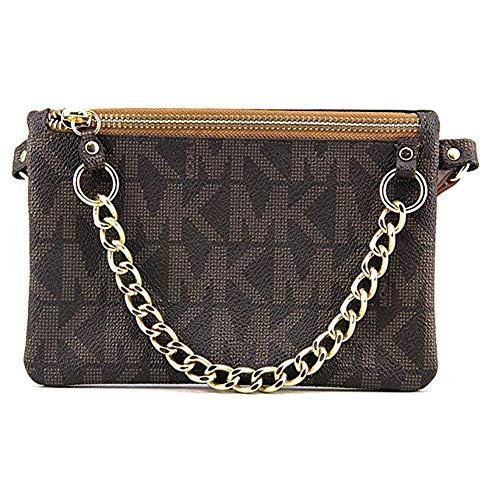 Michael Kors Brown MK Signature Fanny Pack Belt Bag (Medium) ()