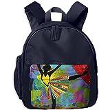 Elegant Ballet Little Durable Printing Shoulders Kid' Bag For Teens School Kindergarten Backpacks 12.5''tall,4''deep,10.5''wide