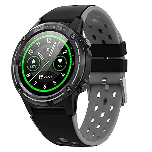 Anmino ASM6C GPS Smart Watch for Android and iOS Phones with 1.3 Inch IPS Round Touch Screen, All-Day Heart Rate and Activity Tracker, Blood Pressure Monitoring, IP67 Waterproof Bluetooth smartwatch