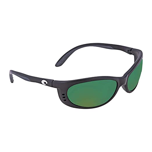 6564ee26433d5 Amazon.com  Costa Del Mar Fathom Sunglasses Matte Black Green Mirror ...