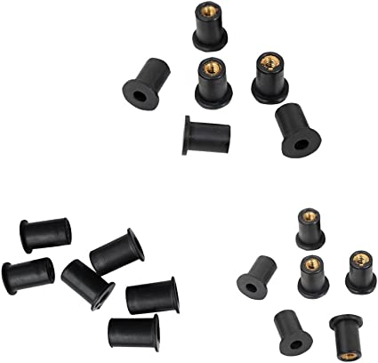 MagiDeal 12 Piezas Tuerca de Goma M5 M/étrica Color Negro para Kayak
