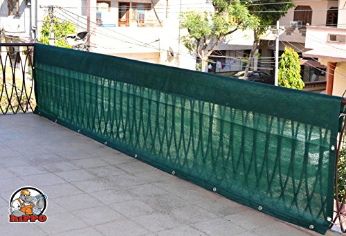 HIPPO Indoor Balcony Safety Net w Eyelets – Dark Green – 1 Piece (0.8 M X 4 M)