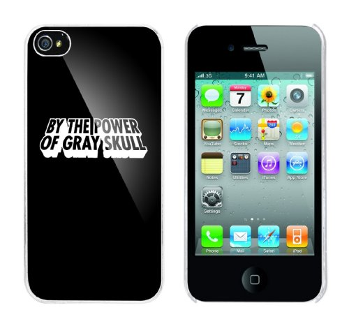 Iphone 4 Case By the power of Gray Skull Rahmen weiss