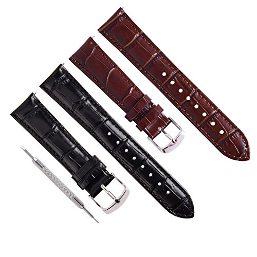 f91bee6d2aa Ritche Quick Release Leather Watch Bands Top Calf Grain Leather Watch Strap  18mm 20mm 22mm for Men Women - Buy Online in Oman.