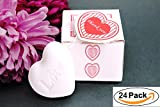 AiXiAng Cute Mini 24 Pieces Handmade Scented Soap Guests Keepsake Gift for Wedding Bridal Shower Favors Gifts, Baby Shower Favors, Parties, Thanksgiving Gifts (White Heart Style)