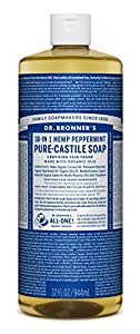Dr. Bronner's Peppermint Liquid Soap, 32oz