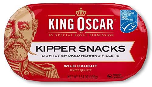 - King Oscar Kipper Snacks, Smoked Herring Fillets, 3.54 oz (Pack of 12)