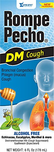 (Rompe Pecho DM Cough Syrup 6 oz (Pack of 6))