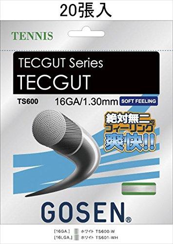 GOSEN(ゴーセン) テックガット16 ノンパッケージ20張SET TS600W20P 1805 【メンズ】【レディース】 W.ホワイト B07CZZYSKT
