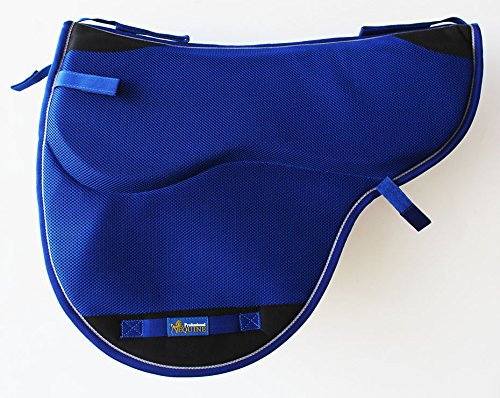 Horse Western English Endurance Treeless NonSlip Neoprene Saddle Pad Blue 6405BL