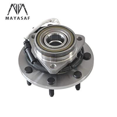 MAYASAF 515030 Front Wheel Hub Bearing Assembly 7 Lug w/ABS Fit 1997-2003 Ford F-150 [4-Wheel ABS, 4WD Only]: Automotive