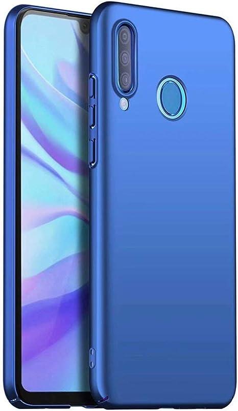 Qsdd Reemplazo para OnePlus 6T Funda Ultra Thin Anti Scratch Carcasa de Telefono PC Dura A Prueba de Golpes de Silicona Caso-Azul