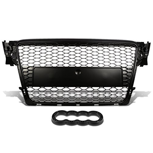 For Audi A4 Quattro ABS Plastic Honeycomb Mesh Style Front Grille (Black) - B8 Typ 8K