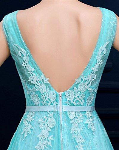 Applikationen Ohne A V Linie Rosa Beauty Emily Ausschnitt Abendkleid Spitze Arm gwRWanEq
