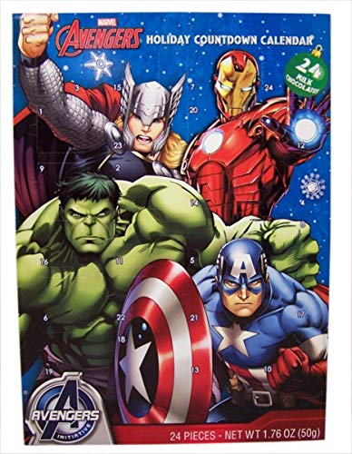 - Holiday Advent Calendar Chocolates for Christmas, 24 Chocolate Days til' Christmas, Countdown Chocolate Calendar for Kids, Season Treats, Gift Ideas, Sweet Presents (Marvel Avengers)
