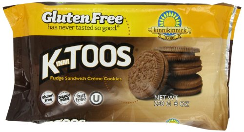 KinniToos Gluten Free Cookies, Fudge Sandwich Creme, 8 Ounce (Peck of 3)