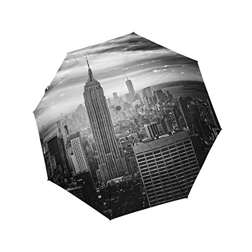 Compact Travel Umbrella Auto Open Close Handle Windproof Lightweight with New York City for Women,Girls and - Hut York New