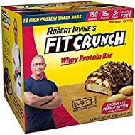 FITCRUNCH Snack Size Protein Bars | Designed by Robert Irvine | World's Only 6-Layer Baked Bar | Just 3g of Sugar & Soft Cake Core (18 Snack Size Bars)