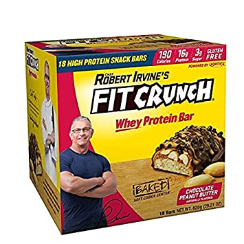 FITCRUNCH Snack Size Protein Bars Designed By Robert Irvine Whey