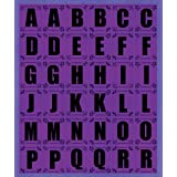 K&Company Purple Contemporary Alphabet Die-cut Stickers