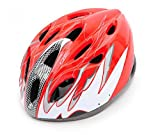 Bill & Candy Cycling MTB Road Bicycle Helmet 18 Holes Riding Equipment Male And Female Models -Red£¨Head Circumference 56-62cm and the Head-width Below 17.5cm.please Check the Size Before Buying£© For Sale