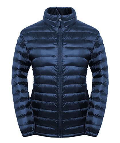 SUNDAY ROSE Puffer Jacket Women Water-Resistant Quilted Padded Outerwear Navy - Size M