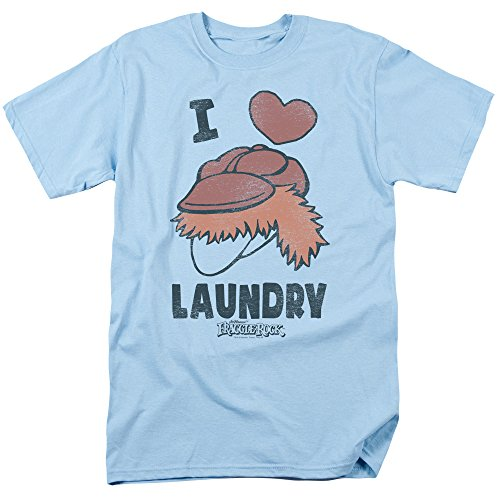 Fraggle Rock Classic TV Show Boober I Heart Laundry And Logo Adult T-Shirt Tee