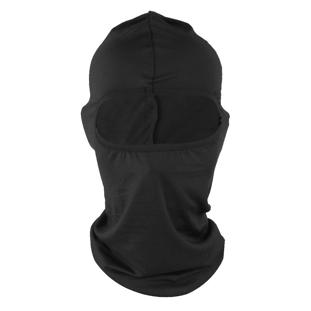 MonkeyJack Motorcycle Cycling Bicycle Sports Ski Balaclava Full Face Neck Mask - Black, one size