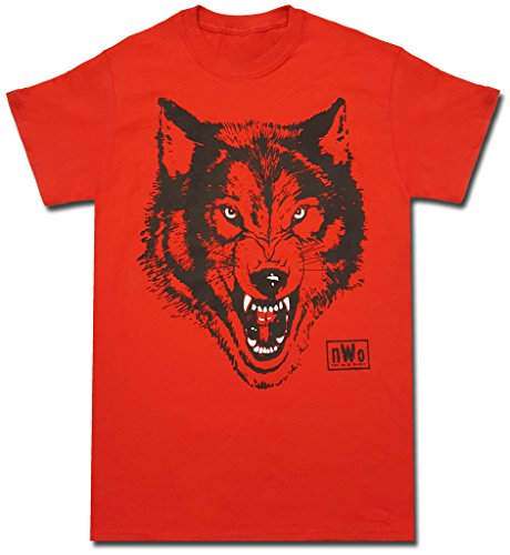 New World Order T-shirt - NWO New World Order Wolfpac Logo Red T-shirt (Adult Large)