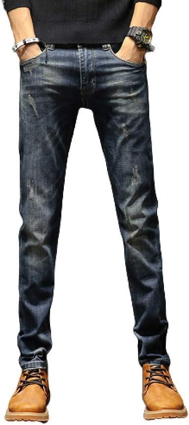 Vaqueros Para Hombres Pantalones Rectos Elasticos De Talla Grande De Moda Casual De Estiramiento Europeo Y Americano Amazon Es Ropa Y Accesorios