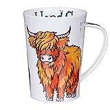 Lovely Dunoon Scottish Highland Cow Bone China Mug Argyll Style