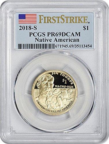 2018 S Proof Jim Thorpe Native American Sacagawea Dollar PR-69 DCAM First Strike PCGS