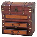 Quickway Imports Decorative Wooden Storage Chest with Drawers