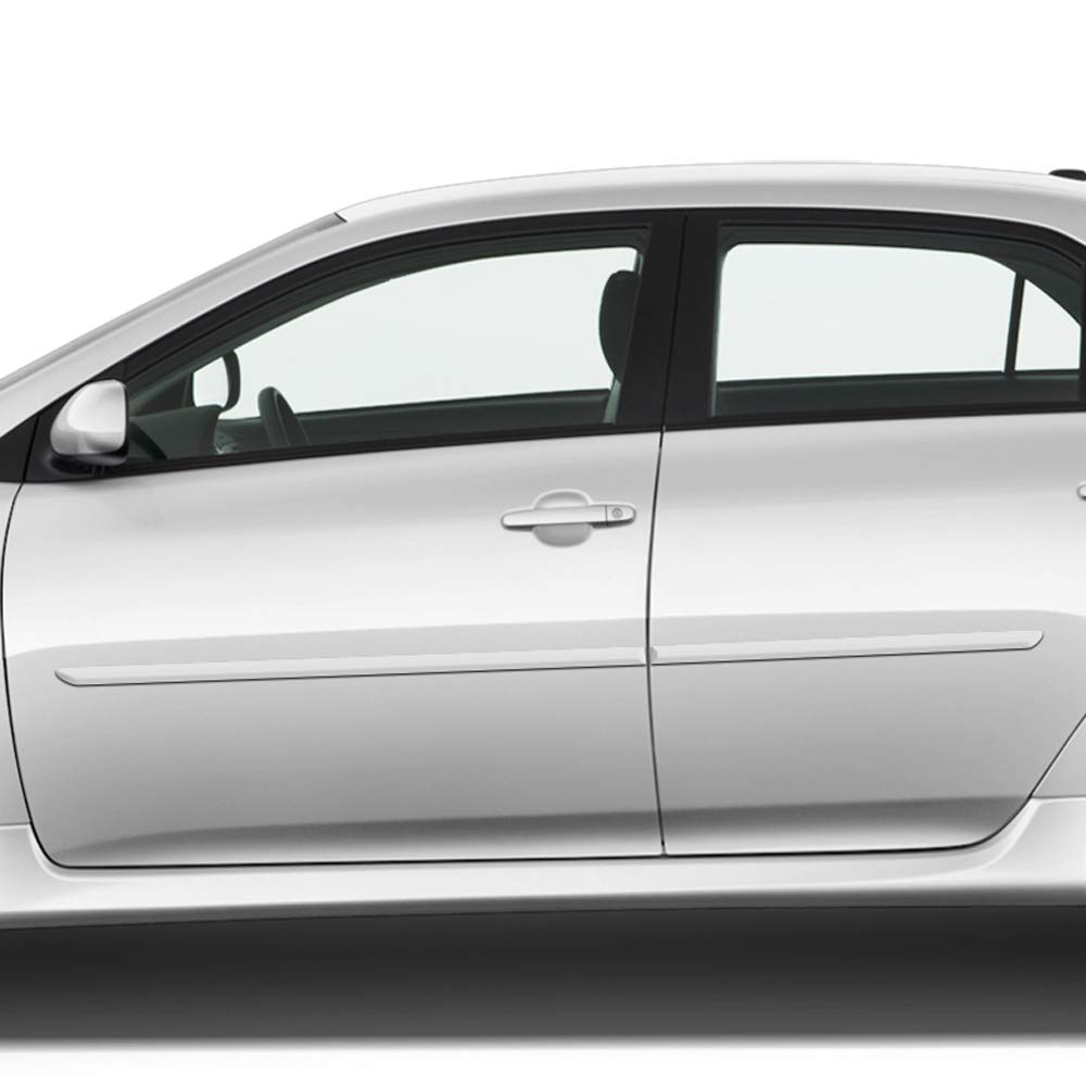 UNP Dawn Enterprises FE-COR09 Finished End Body Side Molding Compatible with Toyota Corolla UNPAINTED