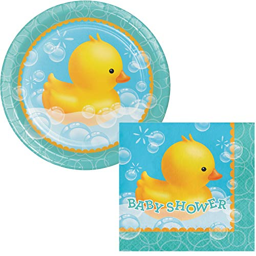 Bubble Bath Baby Shower Lunch Plates & Napkins Party Kit for 8
