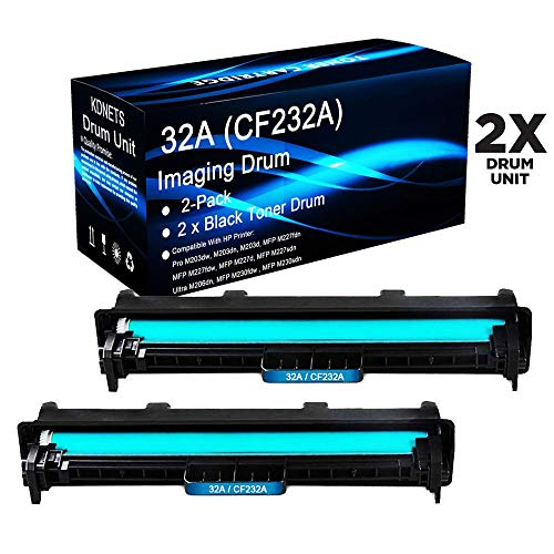 KDNETS 2-Pack Compatible 32A Imaging Unit for HP 32A CF232A Black Drum Kit Used in HP Laserjet Pro MFP M227sdn Printer High Yield
