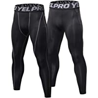 2 Pack Men Quick Dry Running Leggings Compression Tights Gym Training Fitness Sport Trousers Leggings Male Underwear