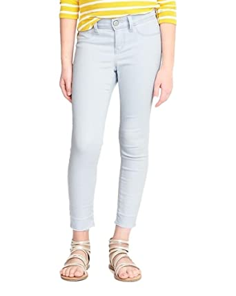 49bc1134bc9ef Old Navy Tao Blue Light-Wash Ballerina Frayed-Hem Crop Jeggings for Girls w