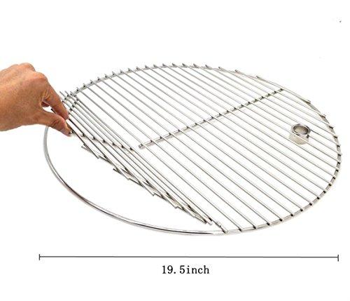 Best Review Of BBQ Stainless Steel 19.5 Inches Round Cooking Grate Cooking Grid Fit for Akorn Kamado...