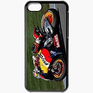 Personalized iPhone 5C Cell phone Case/Cover Skin Andrea Dovizioso 241 Sports Black