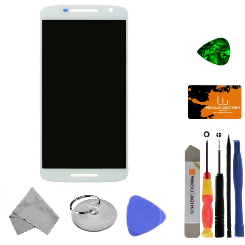 LCD & Digitizer Assembly for Motorola Droid Maxx 2 (White) with Tool Kit by Wholesale Gadget Parts (Image #1)