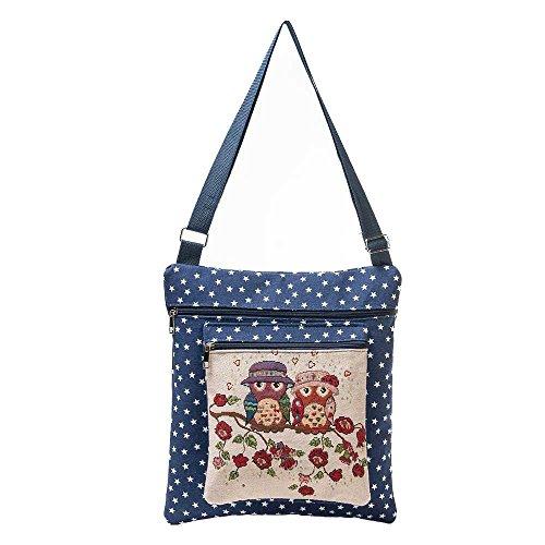 Women Wallet Printing Owl Tote Bags Women Shoulder Bag Handbags Postman Package