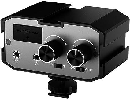 Comica CVM-AX1 - Adaptador de audio universal para amplificador de ...