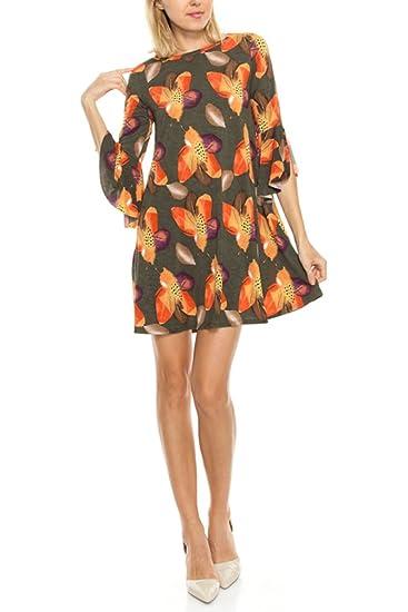 Tendzi Trends Plus Size Feather Print Tunic Dress with ...